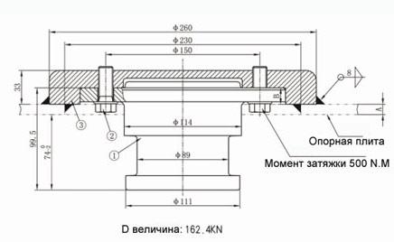 Cборочный сцепной шкворень BH-KZ9050A-10/12