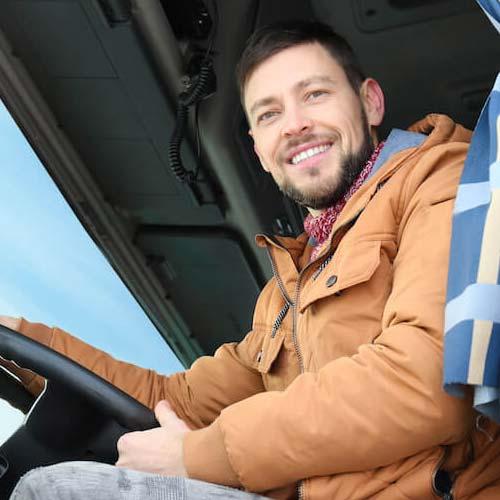 C. Чесноков, водитель по международным перевозкам